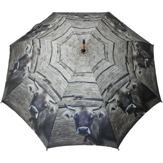 Regenschirm braune Kuh
